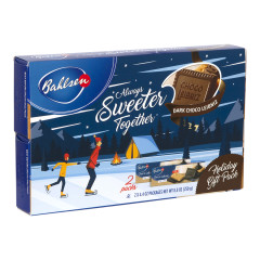 BAHLSEN LEIBNIZ DARK CHOCOLATE 2 PC HOLIDAY SLEEVE 8.8 OZ BOX