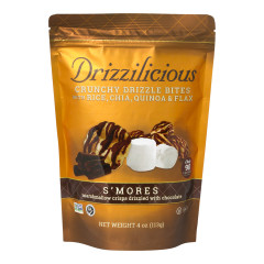 DRIZZILICIOUS S'MORES DRIZZLE BITES 4 OZ POUCH