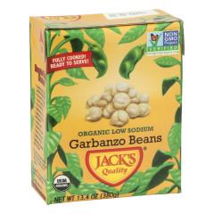 JACK'S QUALITY ORGANIC LOW SODIUM GARBANZO BEANS 13.4 OZ