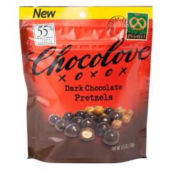 CHOCOLOVE DARK CHOCOLATE PRETZELS 4.5 OZ POUCH
