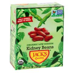 JACK'S QUALITY ORGANIC LOW SODIUM KIDNEY BEANS 13.4 OZ