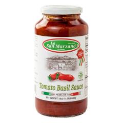 LA SAN MARZANO TOMATO BASIL SAUCE 24 OZ JAR