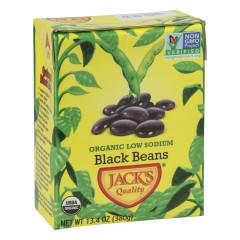 JACK'S QUALITY ORGANIC LOW SODIUM BLACK BEANS 13.4 OZ