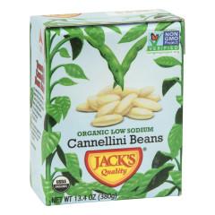 JACK'S QUALITY ORGANIC LOW SODIUM CANNELLINI BEANS 13.4 OZ