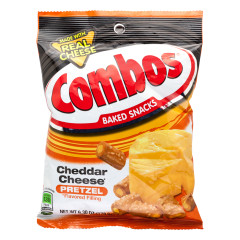 COMBOS CHEDDAR CHEESE PRETZEL 6.3 OZ PEG BAG
