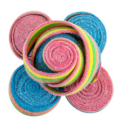 CLEVER CANDY RAINBOW SOUR ROLLED BELTS