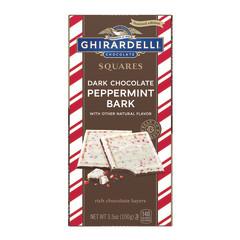 GHIRARDELLI DARK CHOCOLATE PEPPERMINT BARK 3.5 OZ BAR