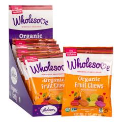 WHOLESOME ORGANIC FRUIT CHEWS 2 OZ BAG