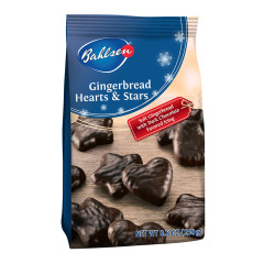 BAHLSEN GINGERBREAD HEARTS AND STARS 8.8 OZ BAG