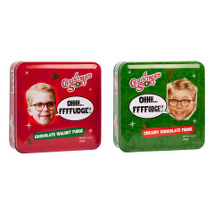 A CHRISTMAS STORY ASSORTED FUDGE TINS 12 OZ