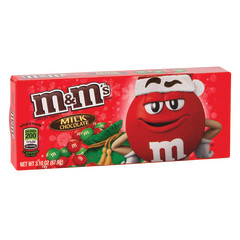 M&M'S MILK CHOCOLATE CHRISTMAS 3.1 OZ THEATER BOX