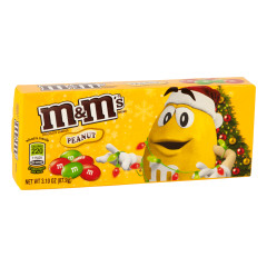 M&M'S PEANUT CHRISTMAS 3.1 OZ THEATER BOX