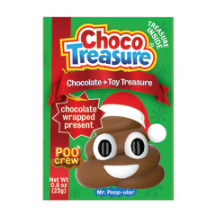 CHOCO TREASURE CHRISTMAS POO CREW CHOCOLATE WITH TOY SURPRISE 0.8 OZ