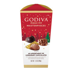 GODIVA MASTERPIECE ASSORTED CHOCOLATES 7.3 OZ BOX