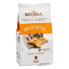 MELIORA GARLIC AND HERB BRUSCHETTE 5.3 OZ BAG