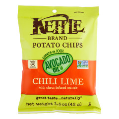 KETTLE CHILI LIME POTATO CHIPS WITH AVOCADO OIL 1.5 OZ BAG