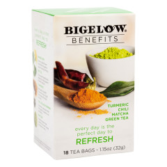 BIGELOW BENEFITS MATCHA GREEN TEA 18 CT BOX