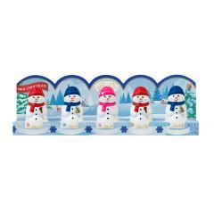 LINDT MINI MILK CHOCOLATE SNOWMEN 5 PC 1.7 OZ TRAY