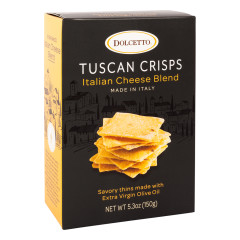 DOLCETTO ITALIAN CHEESE BLEND TUSCAN CRISPS 5.3 OZ BOX