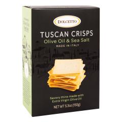 DOLCETTO OLIVE OIL AND SEA SALT TUSCAN CRISPS 5.3 OZ BOX