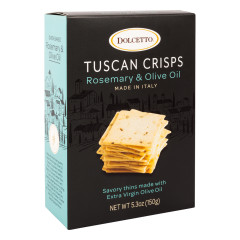 DOLCETTO ROSEMARY AND OLIVE OIL TUSCAN CRISPS 5.3 OZ BOX