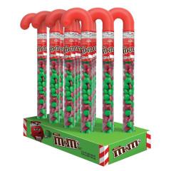 M&M'S MILK CHOCOLATE CHRISTMAS M&M'S CANE 3 OZ