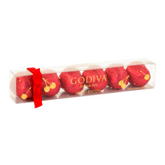 GODIVA HOLIDAY 6 PC CHERRY CORDIAL 3 OZ ACETATE