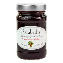 SARABETH'S CRANBERRY RELISH PRESERVES 18 OZ JAR