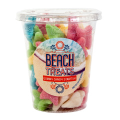 AMUSEMINTS BEACH TREATS GUMMY STARFISH 8.5 OZ CUP