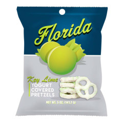 FLORIDA KEY LIME YOGURT PRETZELS 3.5 OZ PEG BAG *FL DC ONLY*