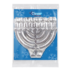 AMUSEMINTS FOILED MENORAH MILK CHOCOLATE 3OZ