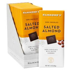 HAMMOND'S DARK CHOCOLATE SALTED ALMOND 3 OZ BAR