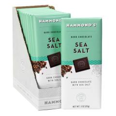 HAMMOND'S DARK CHOCOLATE SEA SALT 3 OZ BAR