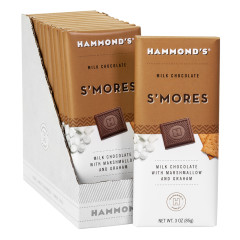 HAMMOND'S MILK CHOCOLATE S'MORES 3 OZ BAR