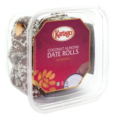 COCONUT ALMOND DATE ROLLS 12 OZ TUB
