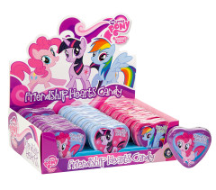 MY LITTLE PONY FRIENDSHIP HEARTS CANDY TIN