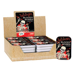 AMUSEMINTS HALLOWEEN BLOODY BONES CANDY 2.5 OZ TIN