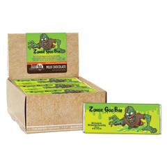 AMUSEMINTS ZOMBIE MILK CHOCOLATE GREEN GOOEY CENTER 1.75 OZ BAR