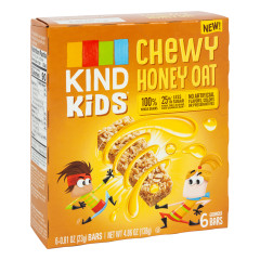 KIND KIDS CHEWY HONEY OAT BAR 4.86 OZ BOX