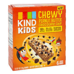 KIND KIDS CHEWY PEANUT BUTTER CHOCOLATE CHIP BAR 4.86 OZ BOX
