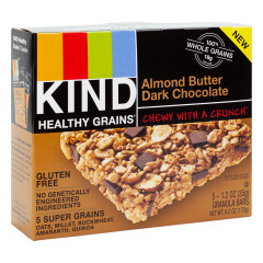KIND HEALTHY GRAINS ALMOND BUTTER DARK CHOCOLATE BAR 6.2 OZ BOX