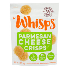 CELLO WHISPS PARMESAN CHEESE CRISPS 2.12 OZ BAG