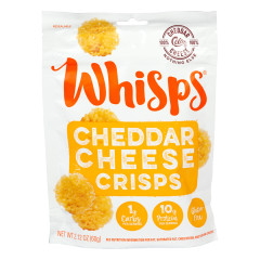 CELLO WHISPS CHEDDAR CHEESE CRISPS 2.12 OZ BAG