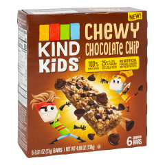 KIND KIDS CHEWY CHOCOLATE CHIP BAR 4.86 OZ BOX