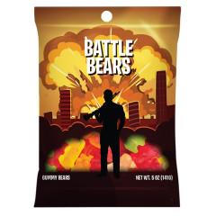 AMUSEMINTS BATTLE BEARS GUMMY BEARS 5 OZ PEG BAG