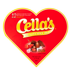 CELLA'S MILK CHOCOLATE 6 OZ HEART BOX