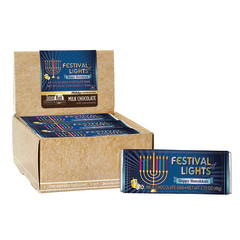 AMUSEMINTS HAPPY HANUKKAH FESTIVAL OF LIGHTS MILK CHOCOLATE 1.75 OZ BAR