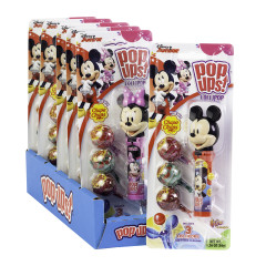 POP UPS MICKEY AND MINNIE LOLLIPOP 1.26 OZ BLISTER PACK
