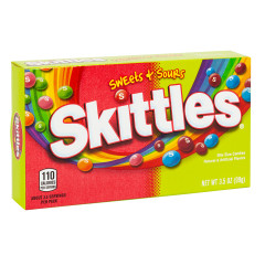 SKITTLES SWEETS AND SOURS 3.5 OZ THEATER BOX