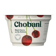 CHOBANI 0% BLACK CHERRY GREEK YOGURT 5.3 OZ